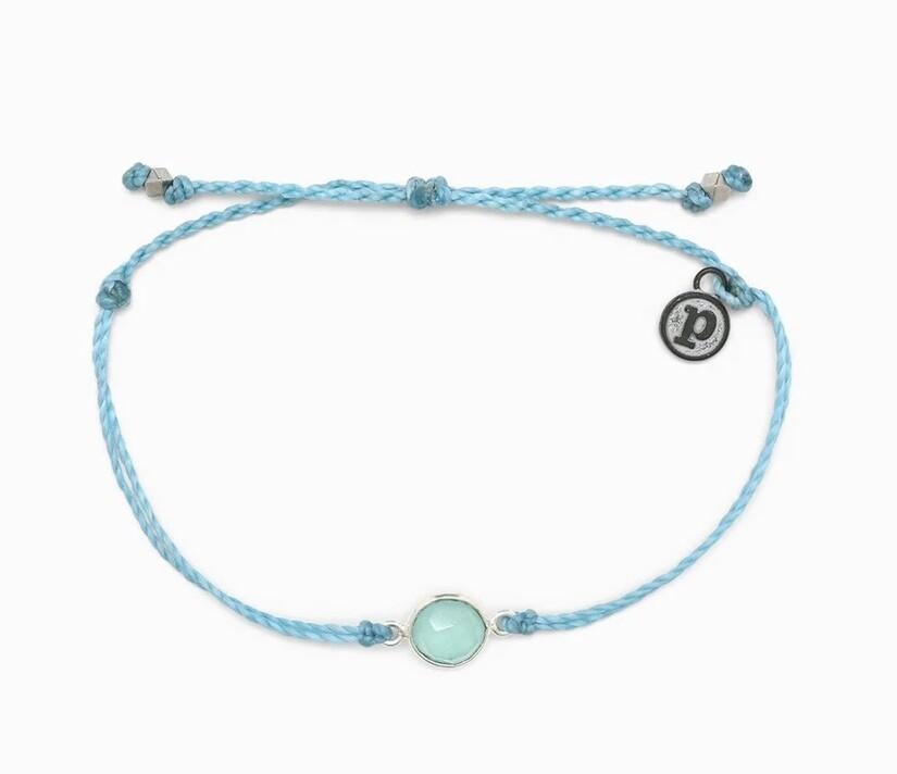 Pura Vida Aqua Stone Bracelet BLUE