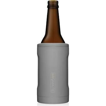 BruMate Hopsulator Insulated Bottle Cooler MATTE GRAY