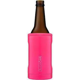 BruMate Hopsulator Insulated Bottle Cooler NEON PINK