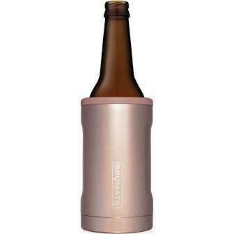 BruMate Hopsulator Insulated Bottle Cooler GLITTER ROSE GOLD