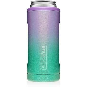 BruMate Hopsulator Slim Can Cooler GLITTER MERMAID