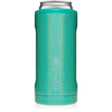 BruMate Hopsulator Slim Can Cooler GLITTER PEACOCK