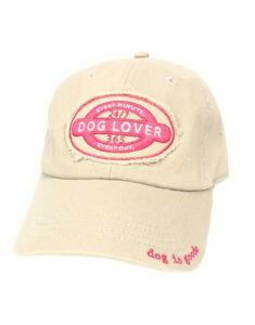 Dog is Good Hat: Dog Lover KHAKI/PINK