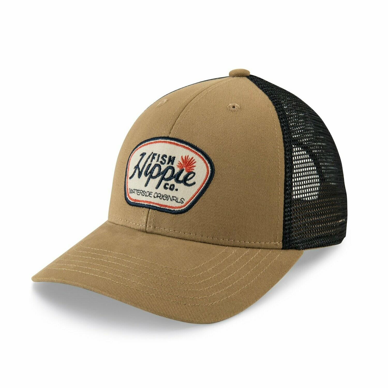 Fish Hippie Trucker Hat A Long Look KHAKI