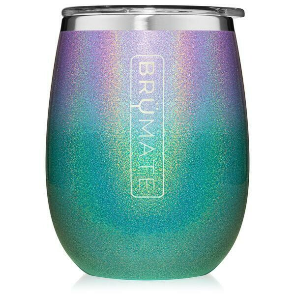 BruMate Uncork'd XL 14oz Wine Tumbler GLITTER MERMAID