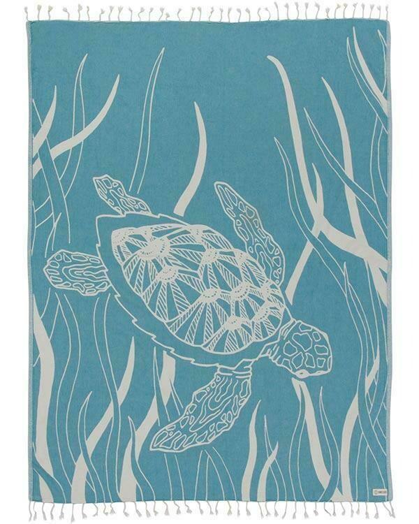 Sand Cloud Turtle Seagrass Large Towel MINT