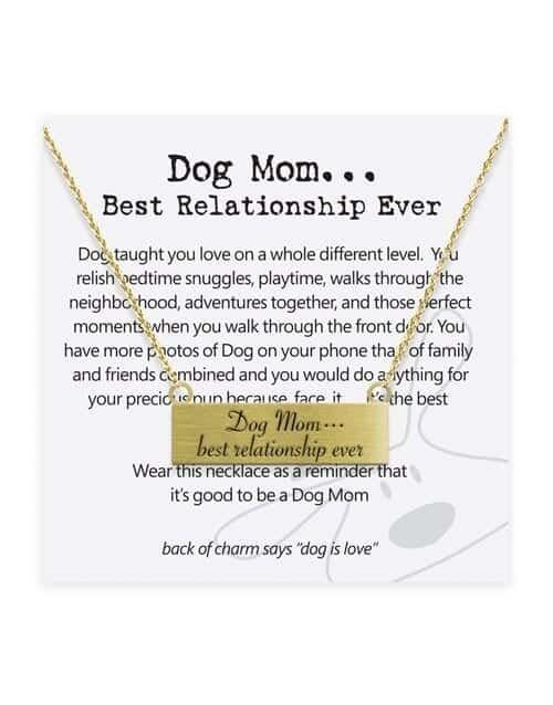 Dog is Good Necklace: Dog  Mom...Best Relationship Ever