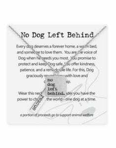 Dog is Good Necklace: No Dog Left Behind