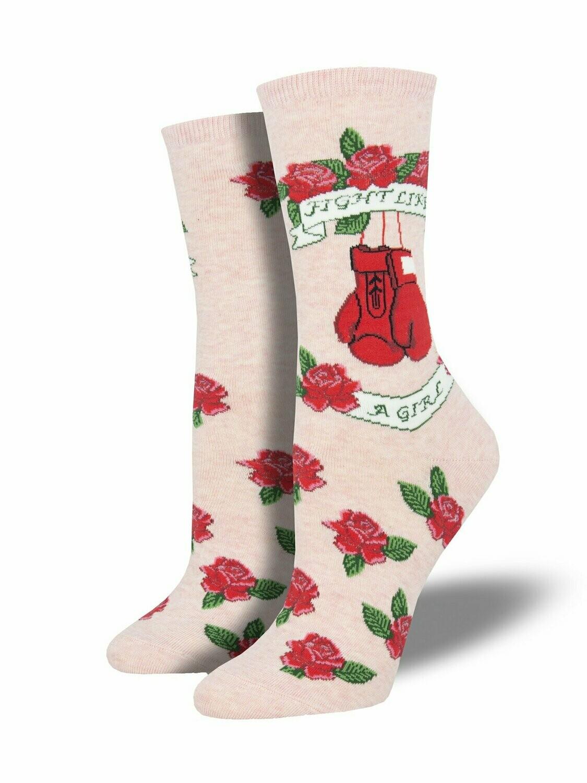 Socksmith W Fight Like A Girl PINK