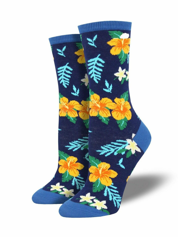 Socksmith W Aloha Floral SKY BLUE