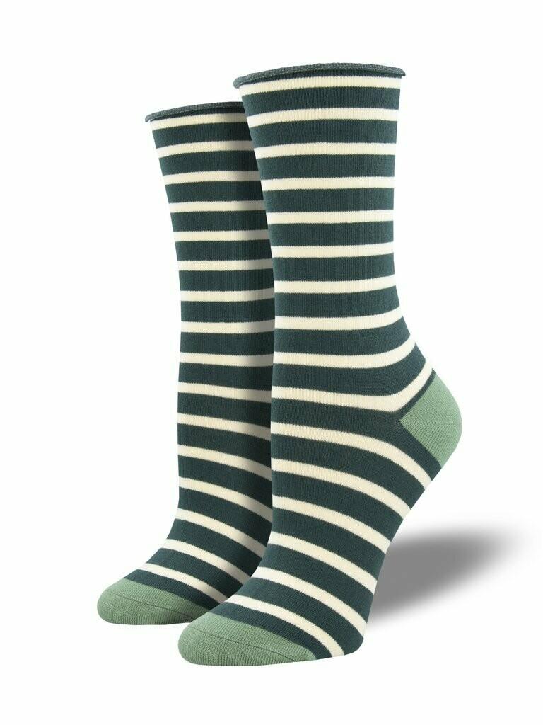 Socksmith W Bamboo Sailor Stripe GREEN