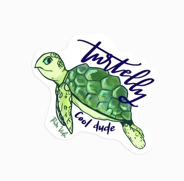Pura Vida Sticker: Turtelly Cool