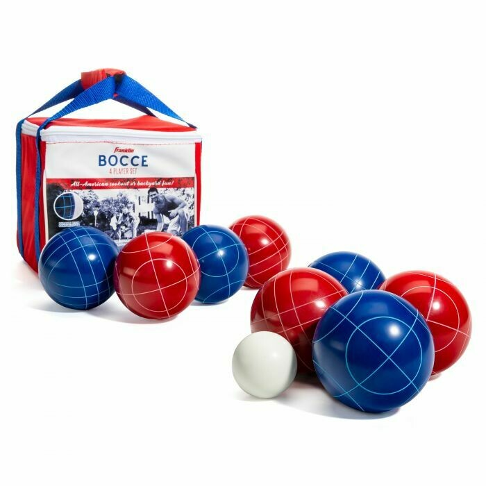 Franklin Sports Red White & Blue Bocce Set