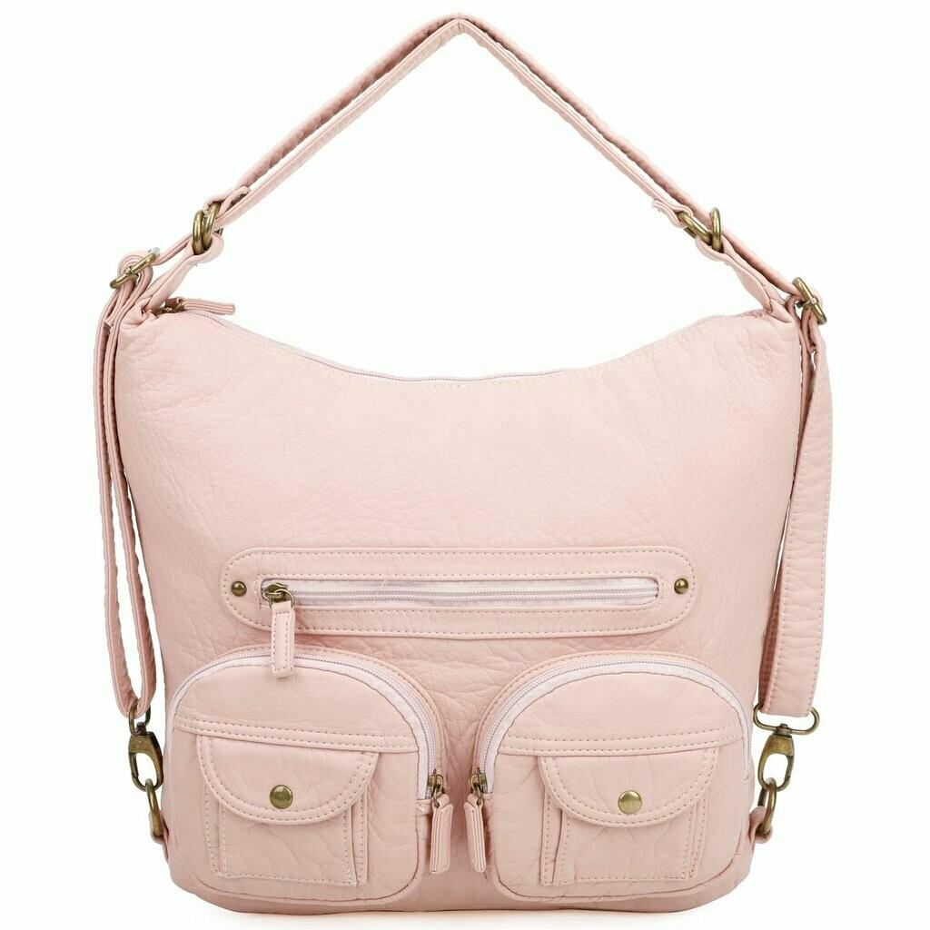 Ampere Mini Convertible Backpack: PETAL PINK