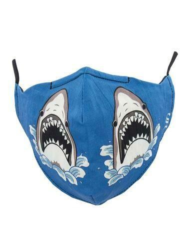 Socksmith Face Mask Shark Attack BLUE