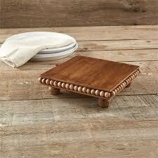 Mud Pie Beaded Wooden Trivet