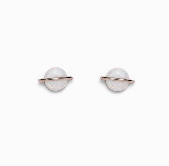 Pura Vida Opal Saturn Earrings ROSE GOLD