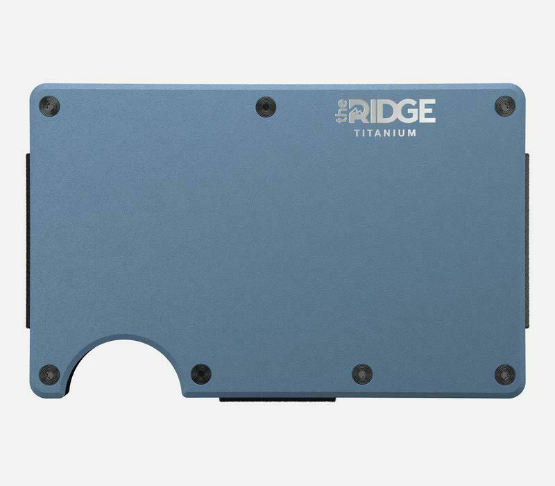 The Ridge Titanium w/Money Clip MATTE COBALT