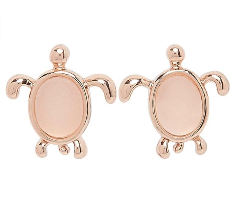 Pura Vida Sea Turtle Earrings ROSE GOLD