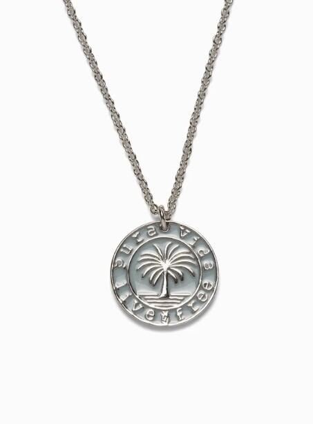 Pura Vida Medallion Necklace SILVER