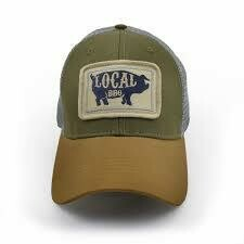 S.L. Revival Co. Everyday Trucker Hat Local BBQ Pig: OLIVE