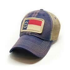 S.L. Revival Co. Trucker Hat NC Flag Patch: NAVY