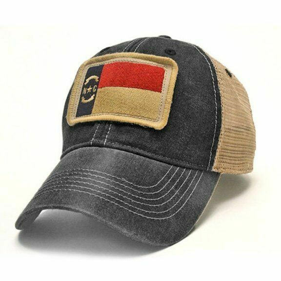 S.L. Revival Trucker Hat NC Flag: BLACK