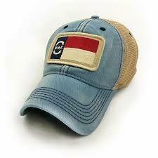 S.L. Revival Co. Trucker Hat NC Flag Patch: AMERICANA BLUE
