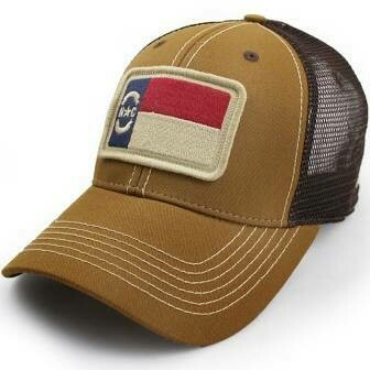 S.L. Revival Co. Trucker Hat NC Flag Patch Structured: TOBACCO