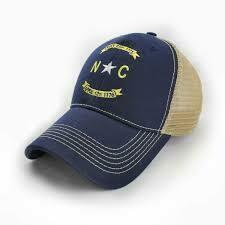 S.L. Revival Trucker Hat North Carolina Banner: NAVY