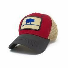 S.L. Revival Co. Trucker Hat Surfing Pig Structured FIRECRACKER RED