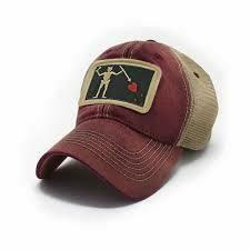 S.L. Revival Co. Trucker Hat Blackbeard Pirate Flag Patch: BRICK RED