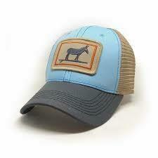 S.L. Revival Co. Trucker Hat W Fit Surfing Donkey SKY BLUE/ CHARCOAL