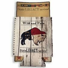 S.L. Revival Co. NC Can Cooler Wild And Free Buffalo