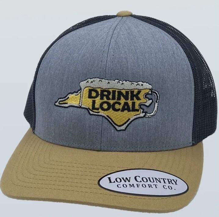 All Star Hats NC Drink Local Trucker HEATHER/AMBER/BLACK