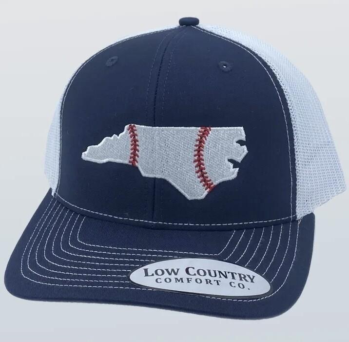 All Star Hats NC Baseball Trucker NAVY/WHITE
