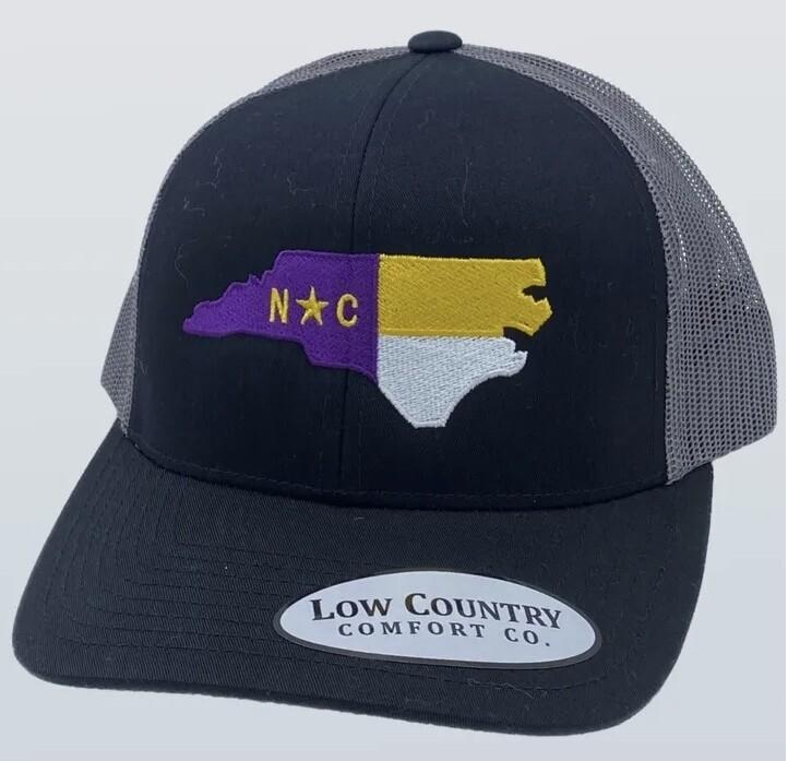 All Star Hats ECU State Flag Trucker BLACK/CHARCOAL