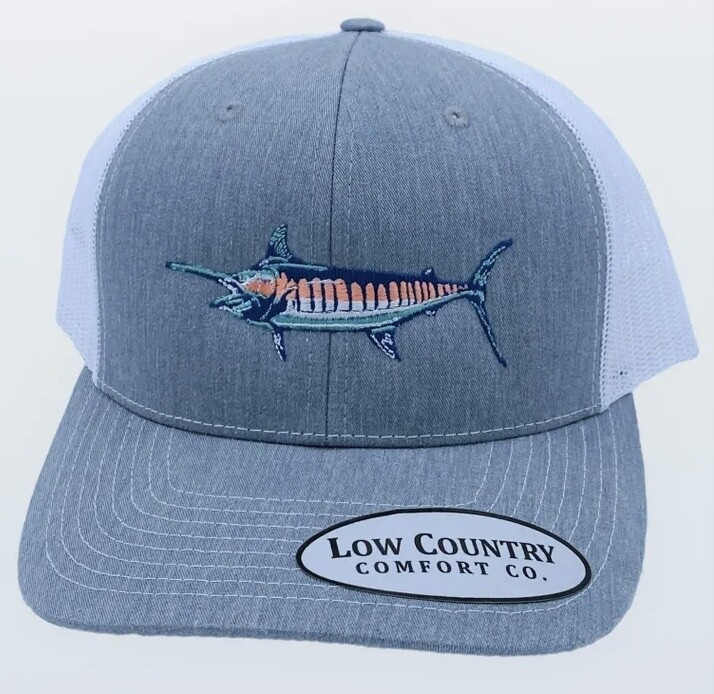 All Star Hats Pastel Marlin Trucker HEATHER/WHITE