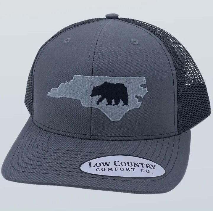 All Star Hats NC Bear Trucker CHARCOAL/BLACK