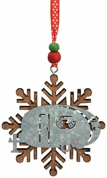 Cape Shore Christmas Ornament: Cork & Metal CAMPER