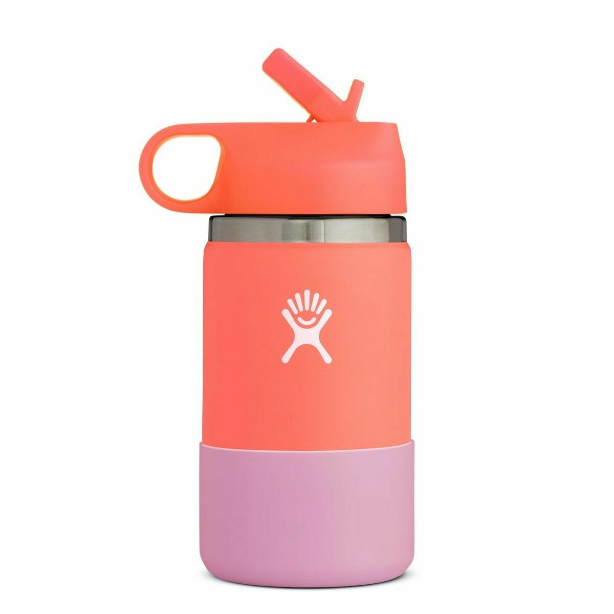 Hydro Flask 12 oz Kids Wide Mouth w/Straw Lid & Boot HIBISCUS
