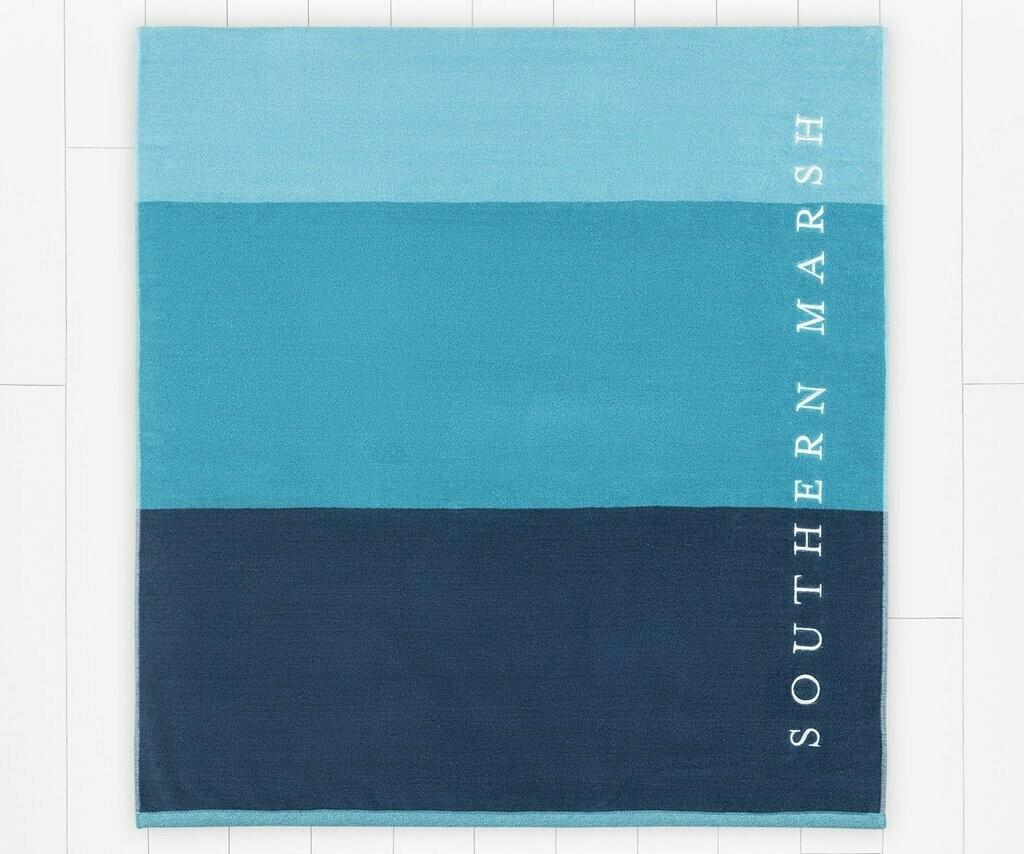 Southern Marsh Beach Towel Horizon Stripe BLUE/TEAL