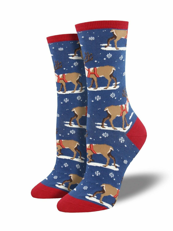 Socksmith W Winter Reindeer BLUE