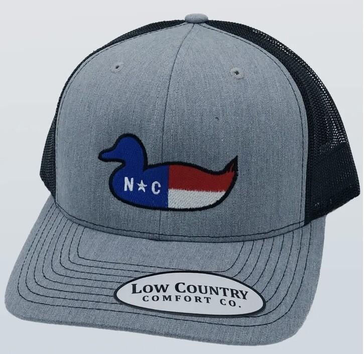 All Star Hats NC Duck Decoy Trucker HEATHER/BLACK