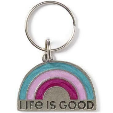 Life Is good Keeper Keyring RAINBOW