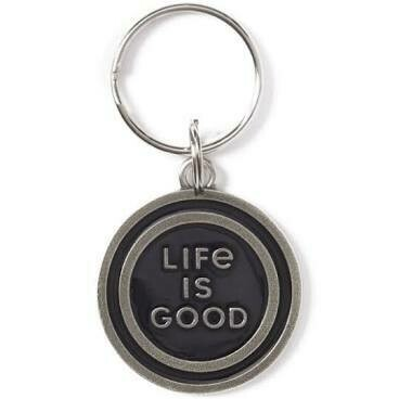 Life is good Keeper Keyring COIN