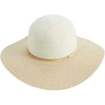 Mud Pie Color Block Sun Hat TAN