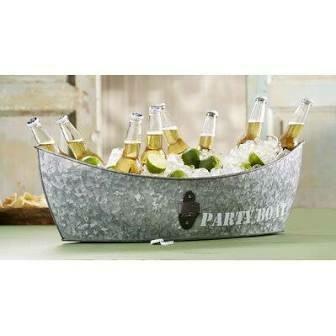 Mud Pie Party Boat Metal Tub