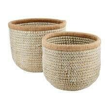 Mud Pie Seagrass Basket MEDIUM