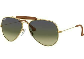 Ray Ban Outdoorsman Craft LIGHT BROWN LEATHER/GREEN